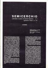 """Il silenzio, """"Semicerchio"""", IV, 1988"""
